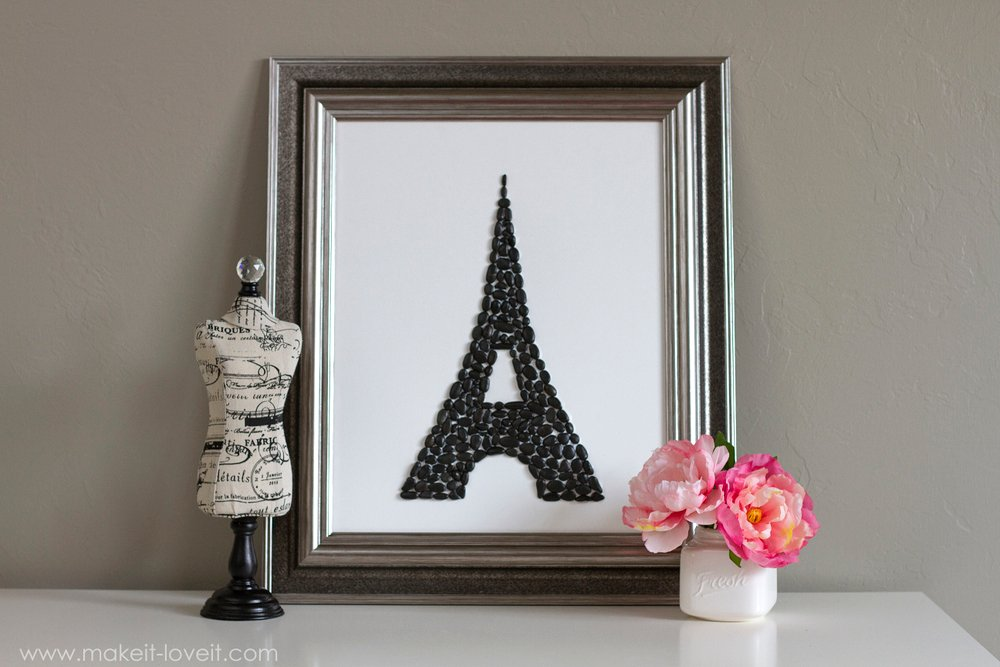 Eiffel Tower Silhouette -- Pebble Display (a little touch of Paris in your home!)   via Make It and Love It