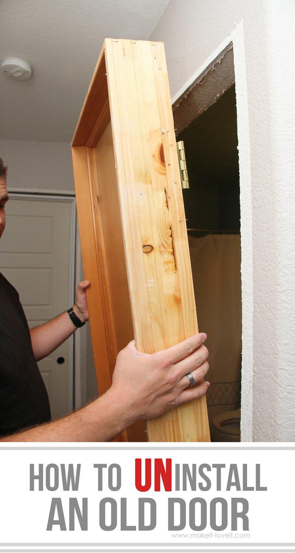 How to uninstall an old door