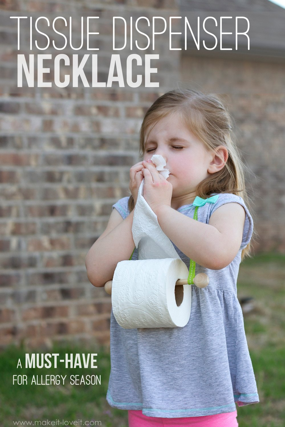 Tissue dispenser necklace…perfect for allergy season! (update: april fools')