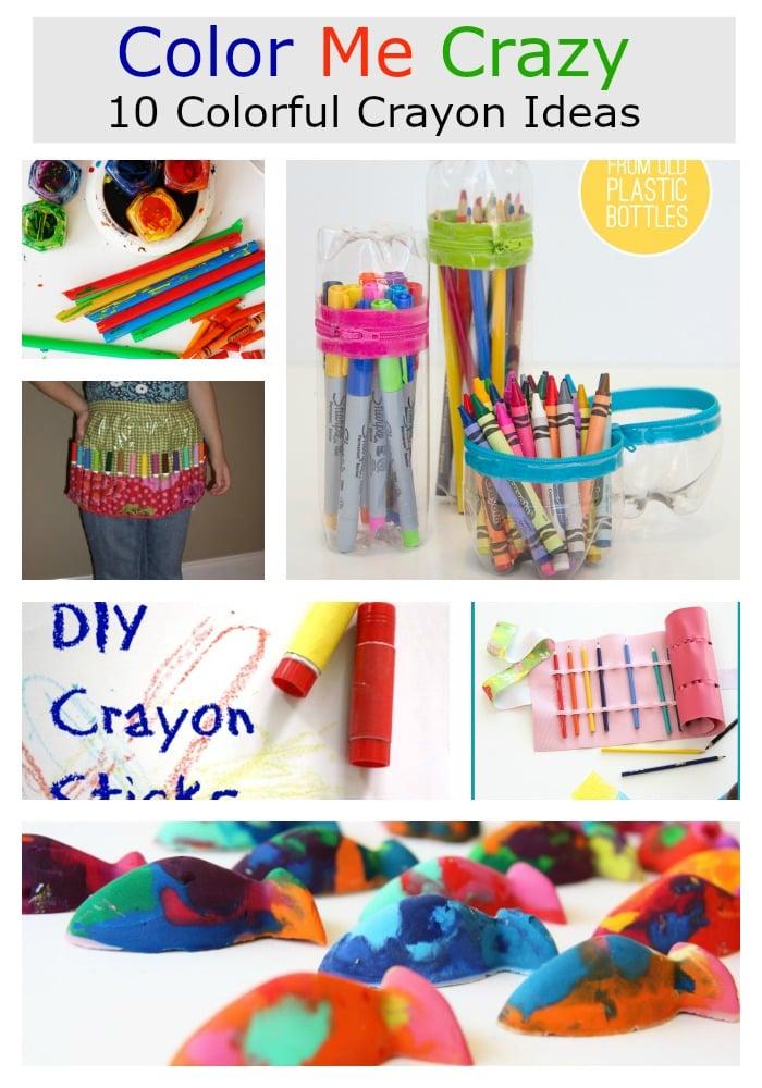 Color me crazy –  10 diy colorful crayons ideas