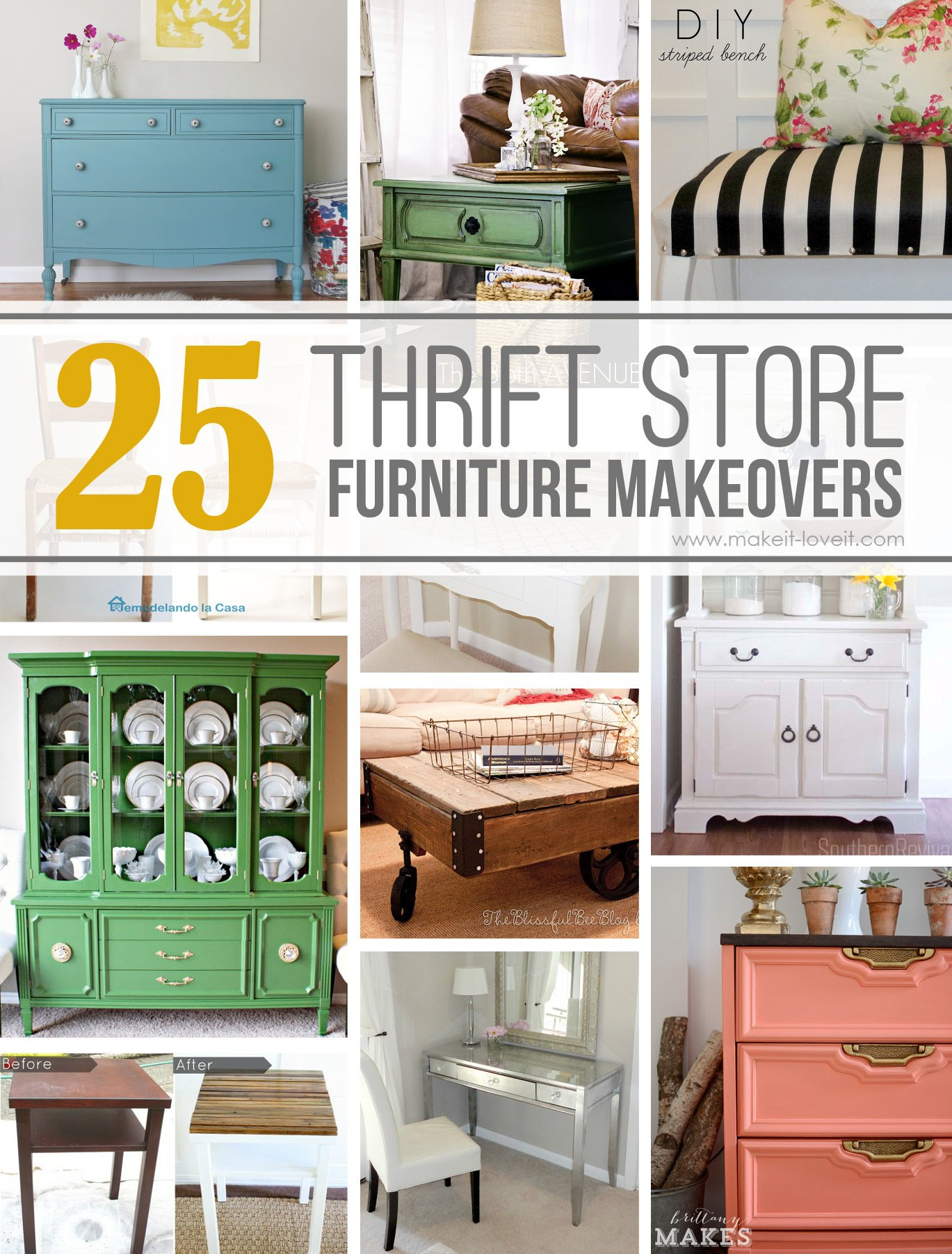 25 Amazing Thrift Store Furniture Makeovers Make It And Love It