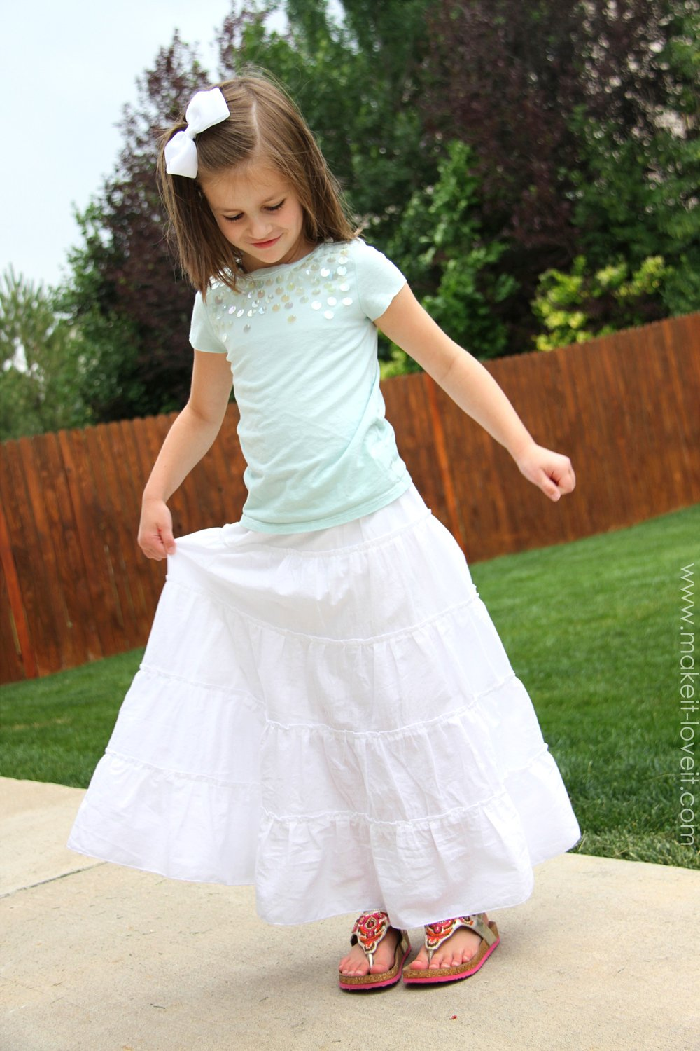 Popular DIY Tiered Maxi Skirtgirls and womens sizing DL93
