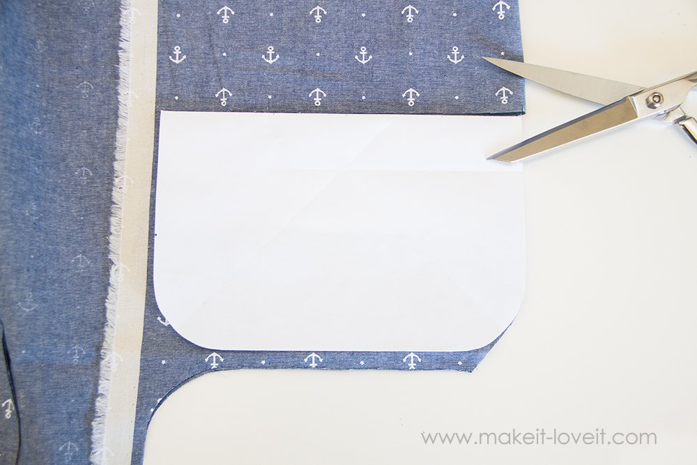 Square hot pad with hand pocket tutorial (2)