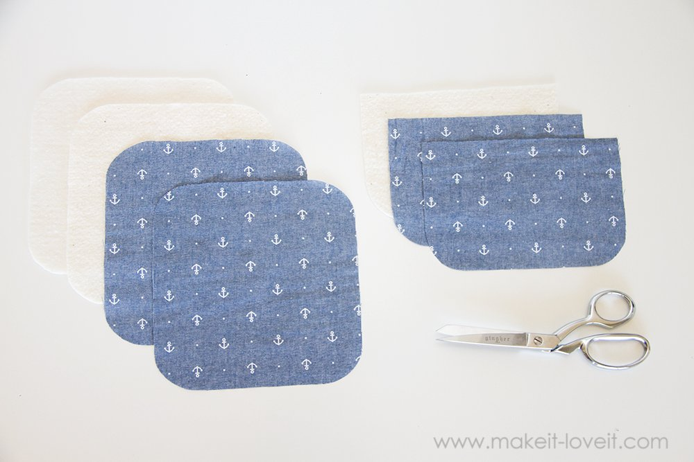 Square hot pad with hand pocket tutorial (3)