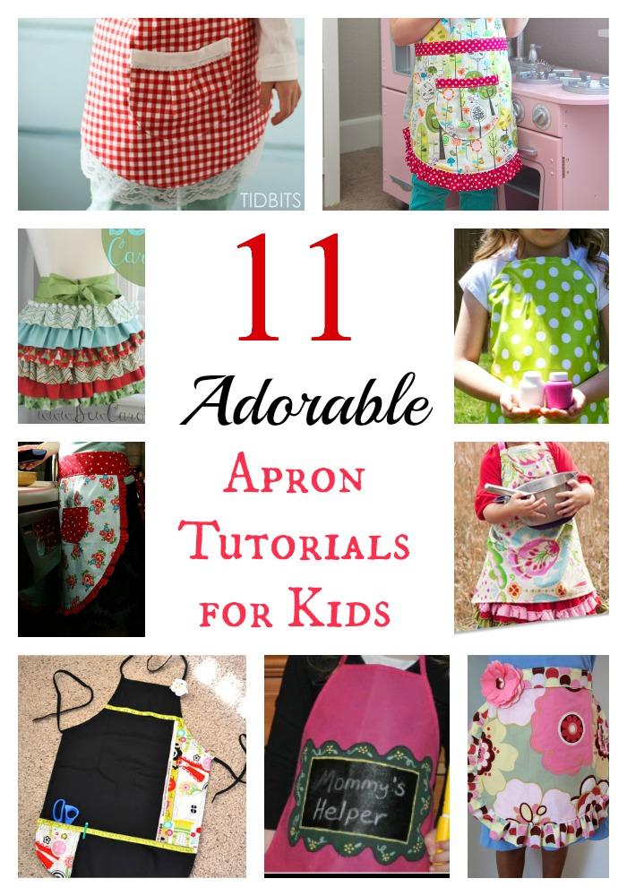 11 adorable apron tutorials for kids