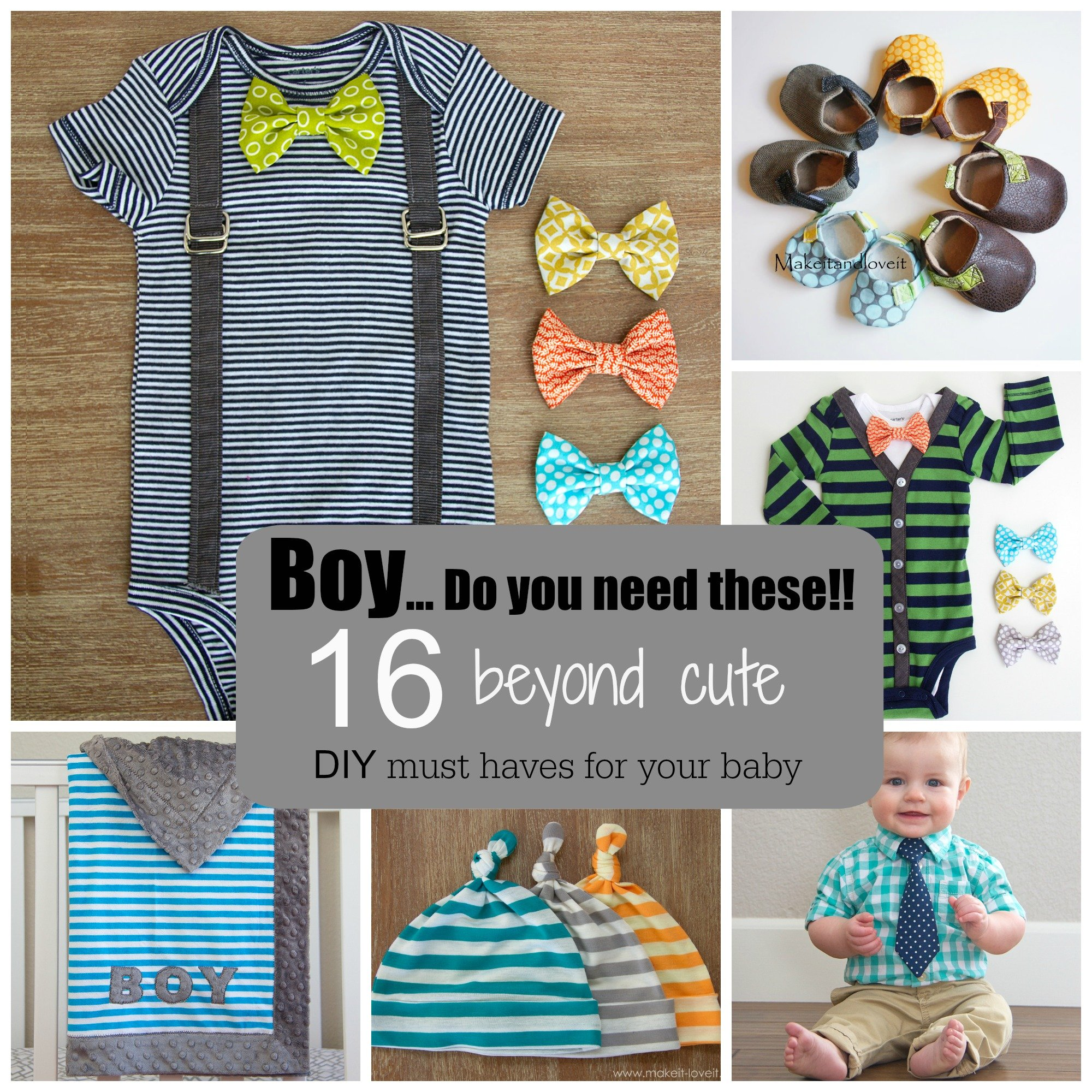 Boy….do you need these!!  16 adorable diy must haves for your baby.