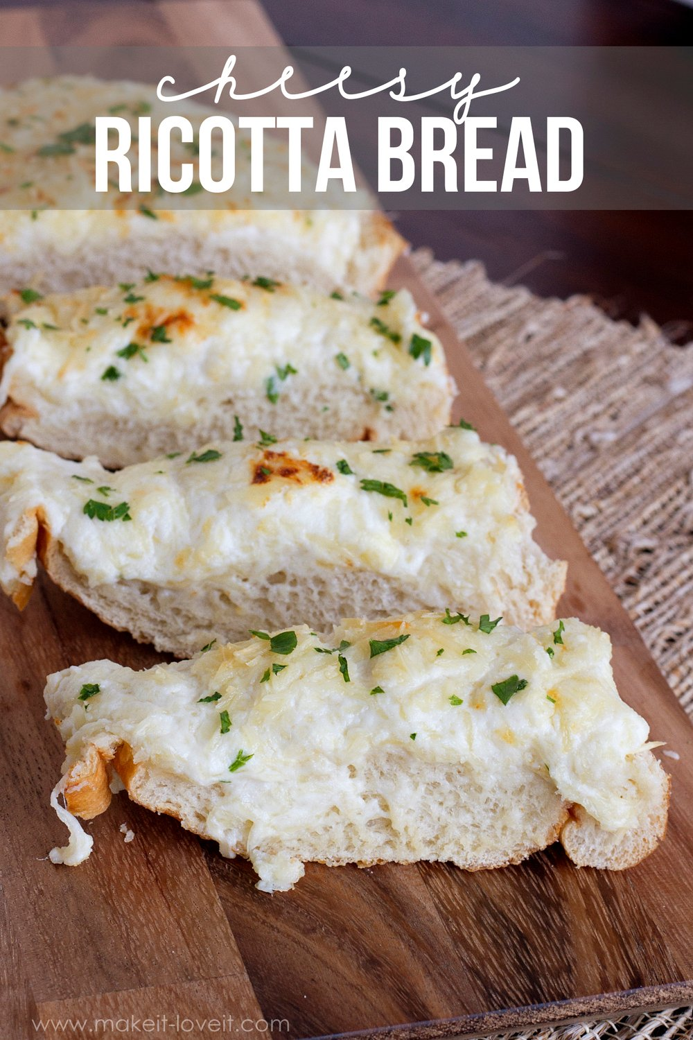 Cheesy ricotta bread 1