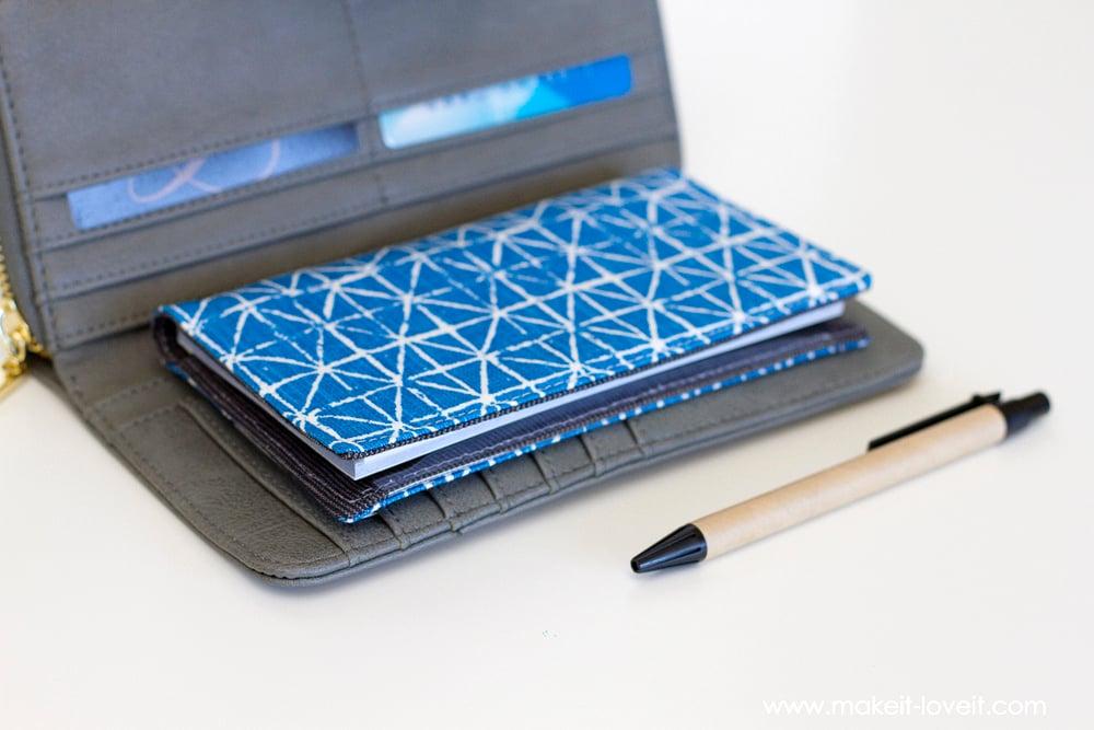 Fabric Checkbook Cover ~ Fabric checkbook cover with duplicate check divider