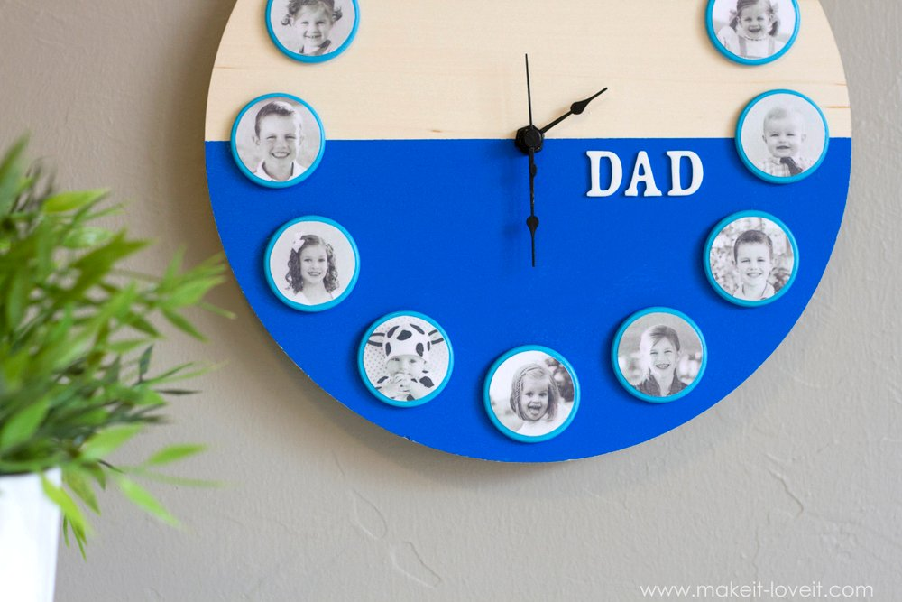 DIY Father's Day (or Mother's Day) Portrait Clock | via Make It and Love It