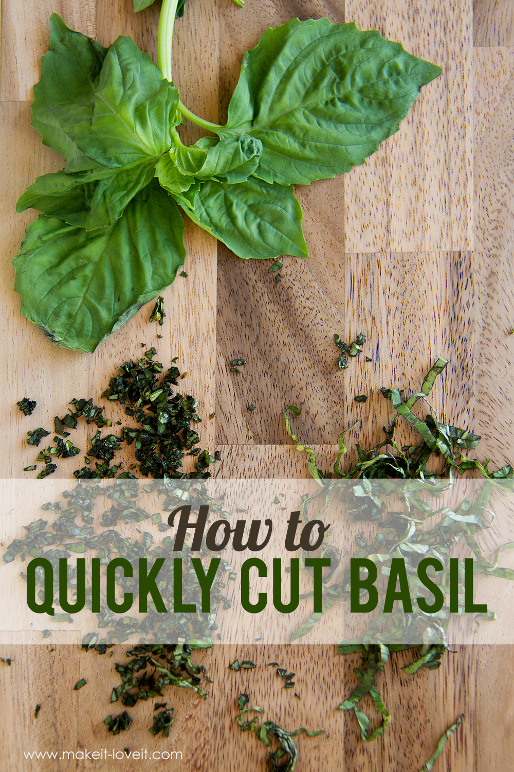 How to quickly cut basil main