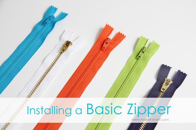 install a zipper