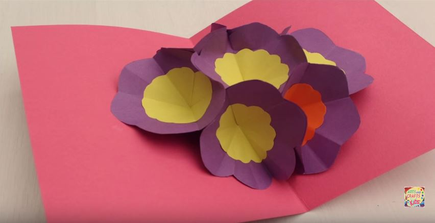 Make a 3d flower pop up card make it and love it pop up mothers day card mightylinksfo