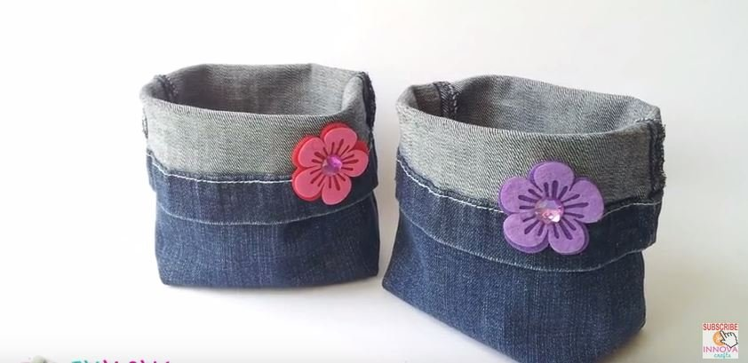 DENIM BAG: MAKE THESE CUTE BAGS FROM RECYCLED JEANS