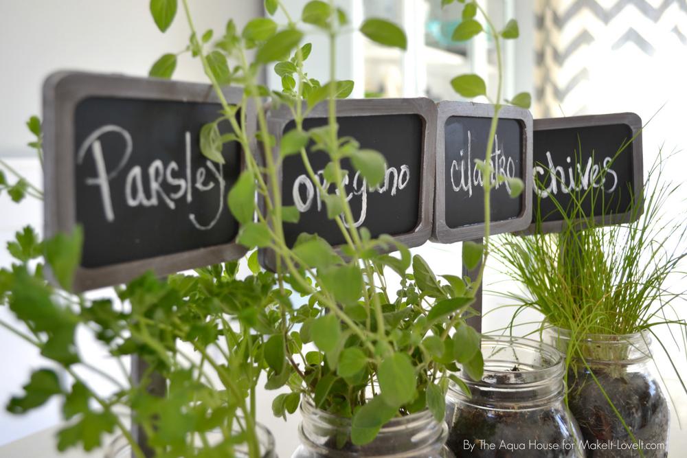 DIY Table Top Herb Garden...from an old pallet! | via Make It and Love It