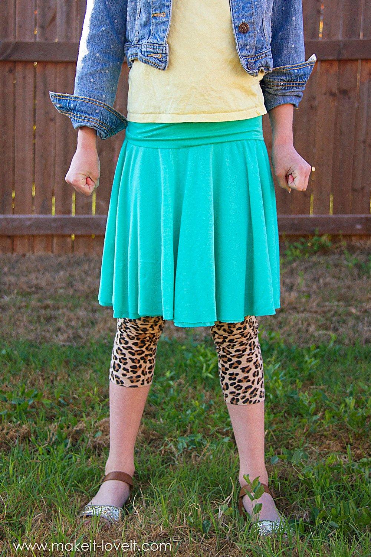 Yoga waistband circle skirt…so simple, so cozy!