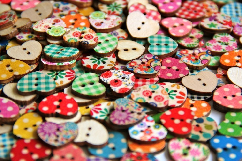 1 wood buttons
