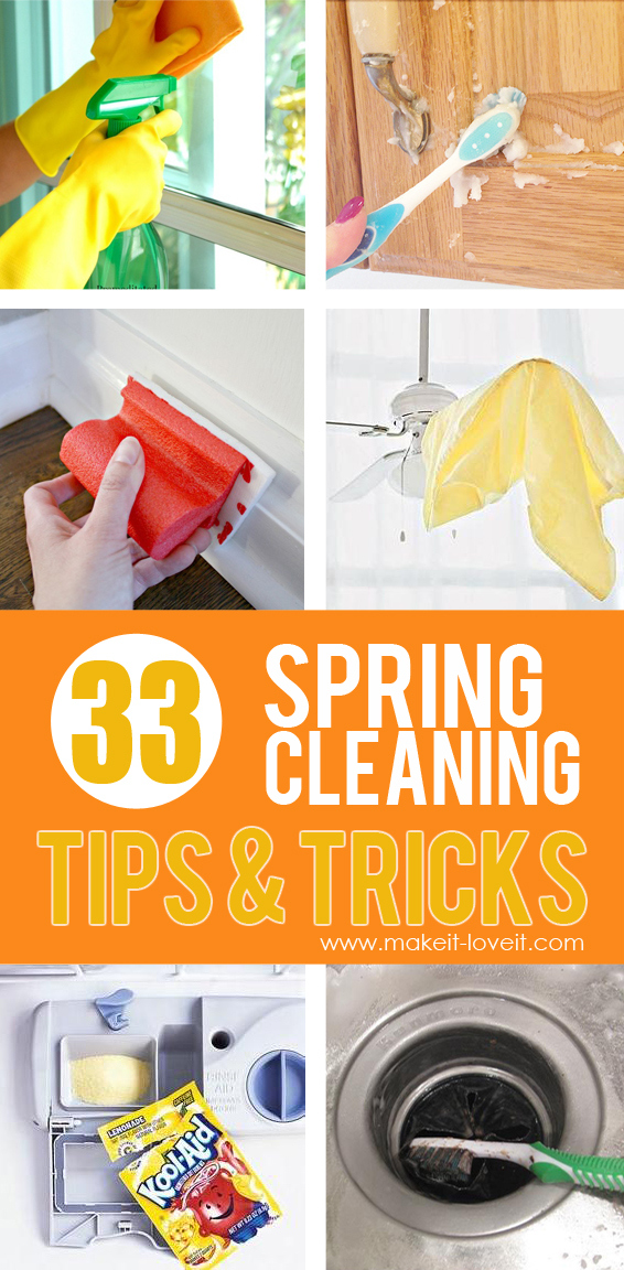 33 Really Helpful SPRING CLEANING Tips & Tricks