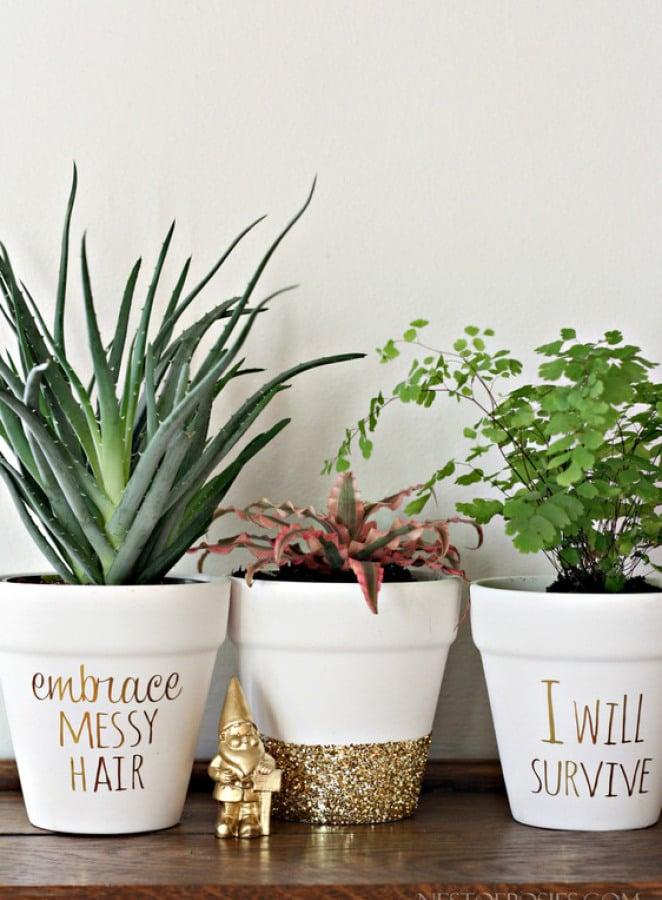 diy gold foil lettering - Flower Pot Ideas