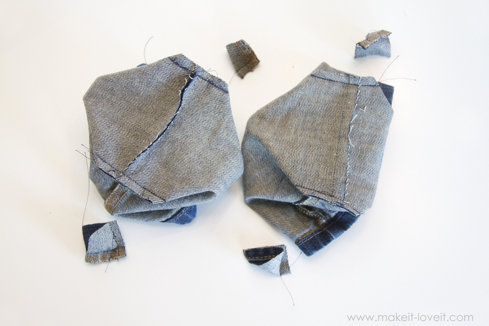 Denim Purse with Draw String Closure from OLD JEANS 13
