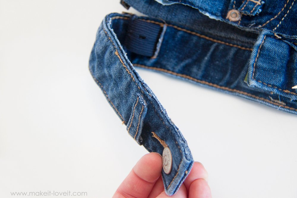 Denim Purse with Draw String Closure from OLD JEANS 15