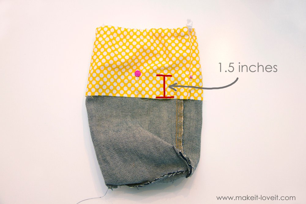 Denim Purse with Draw String Closure from OLD JEANS 29