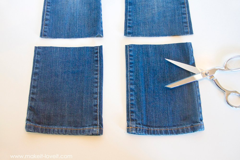 Denim Purse with Draw String Closure from OLD JEANS 8
