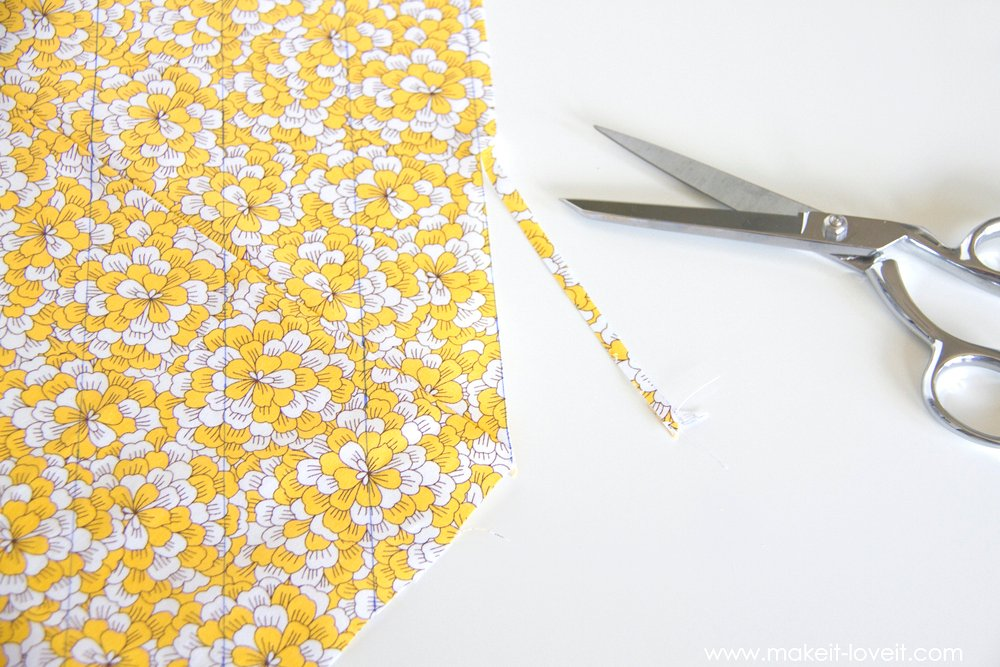 How to make one CONTINUOUS piece of BIAS TAPE 13