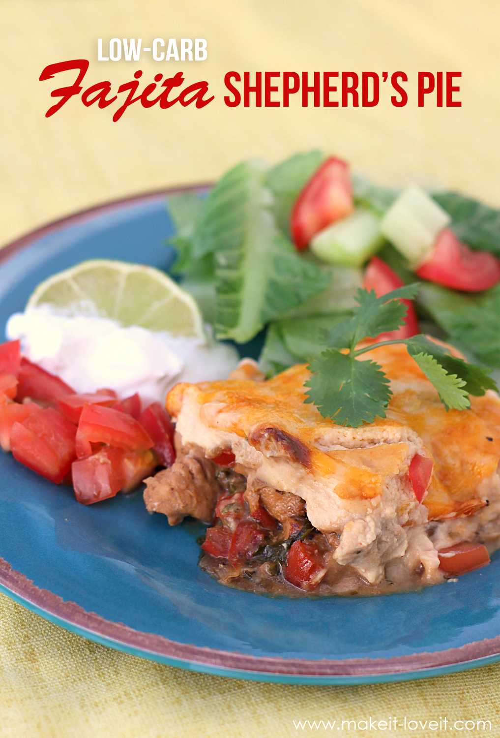 Low carb fajita shepherds pie 3