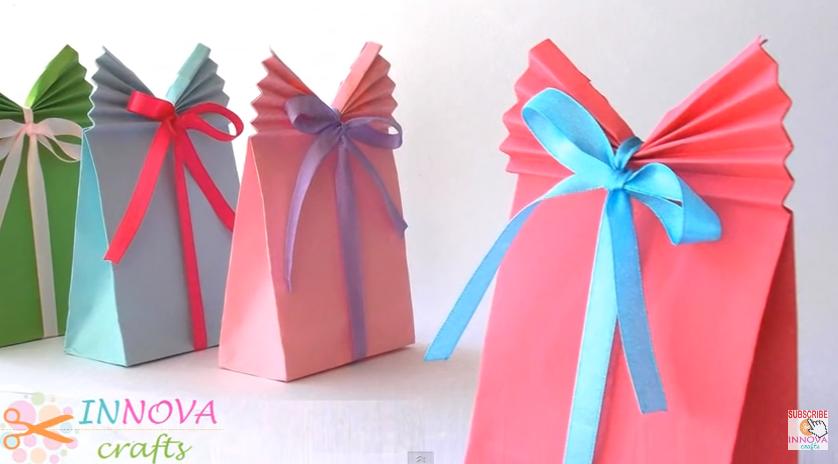 Diy paper gift bag (easy)