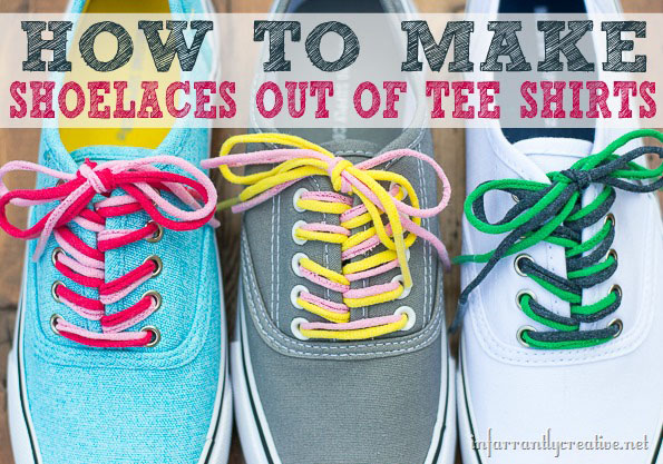 How to Make Shoelaces out of Tee Shirts at TidyMom.net