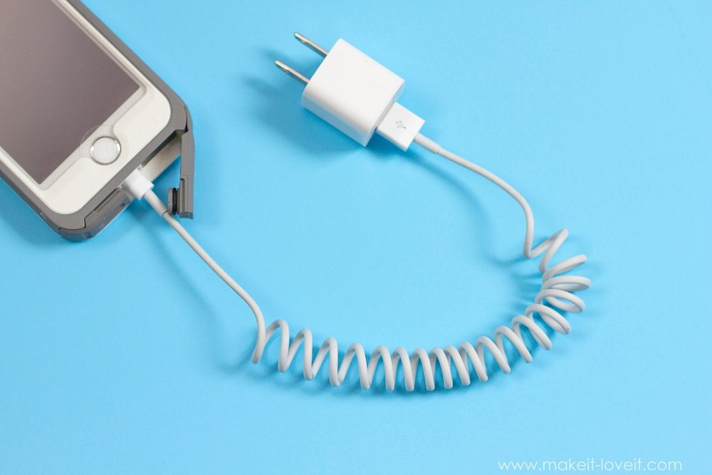 How To Coil Your Own Phone Cord (video included) – Make It and Love It
