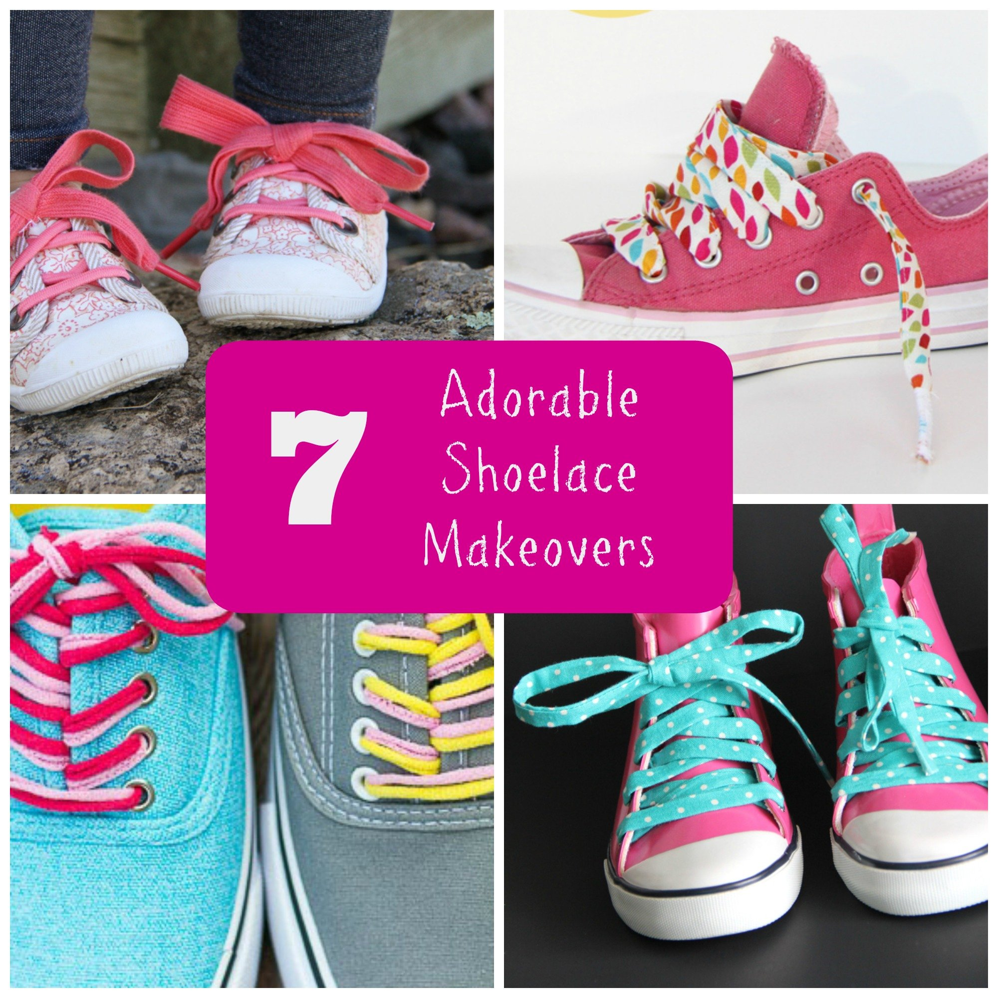 7 adorable shoelace makeovers