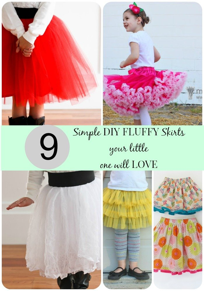 9 simple diy fluffy skirts your little one will love.