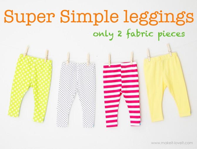 super simple leggings