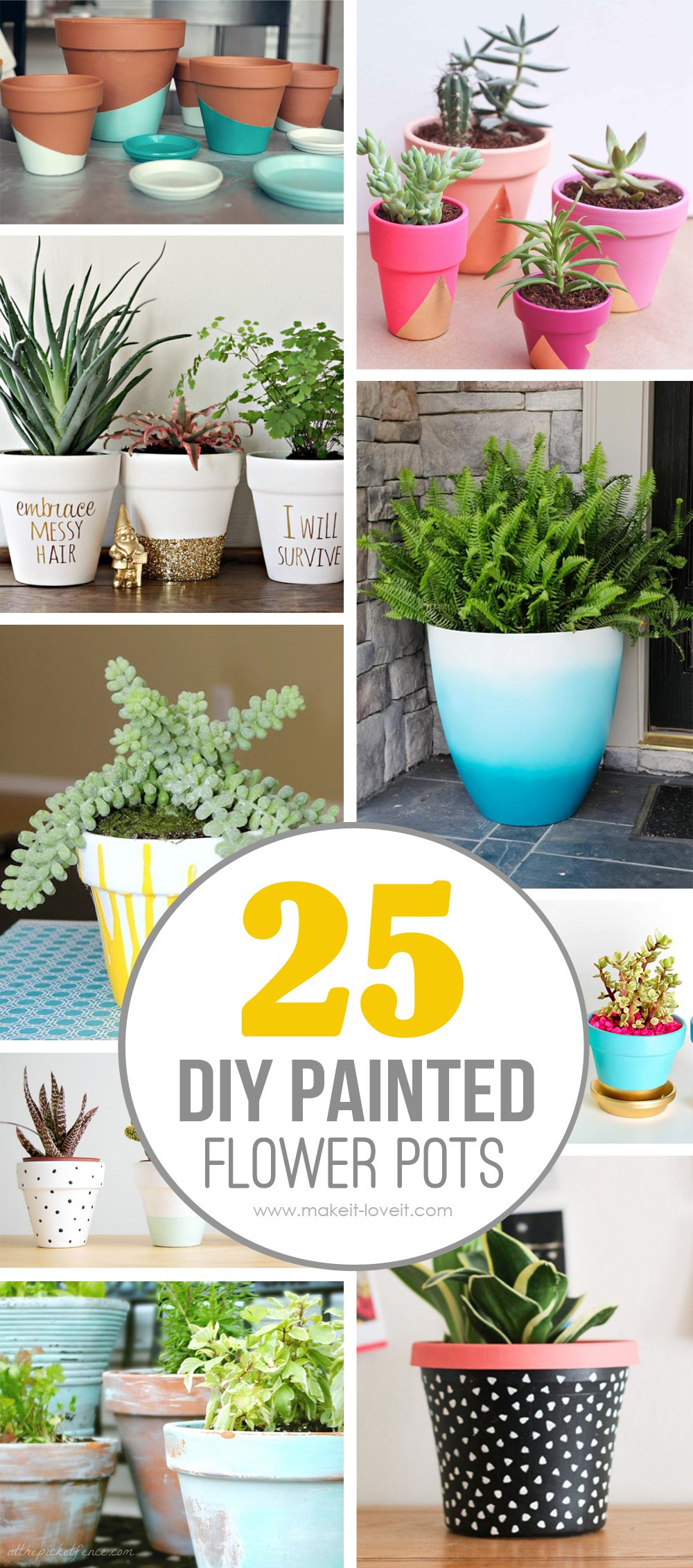 25 Diy Painted Flower Pot Ideas You Ll Love Via Make