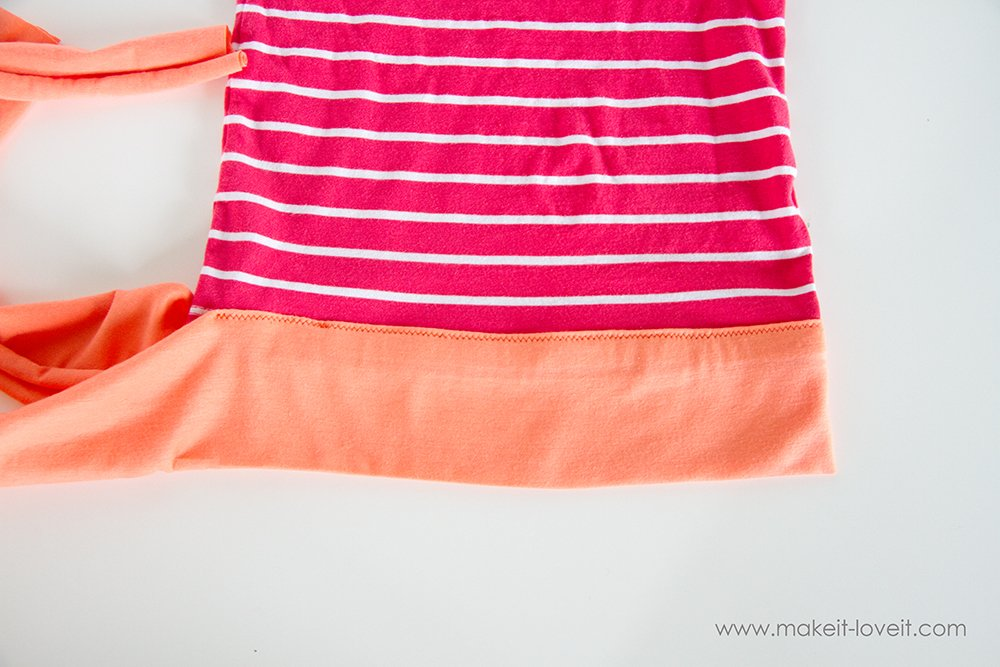 Add a Waist Sash to Shirts (great for making them longer (10)