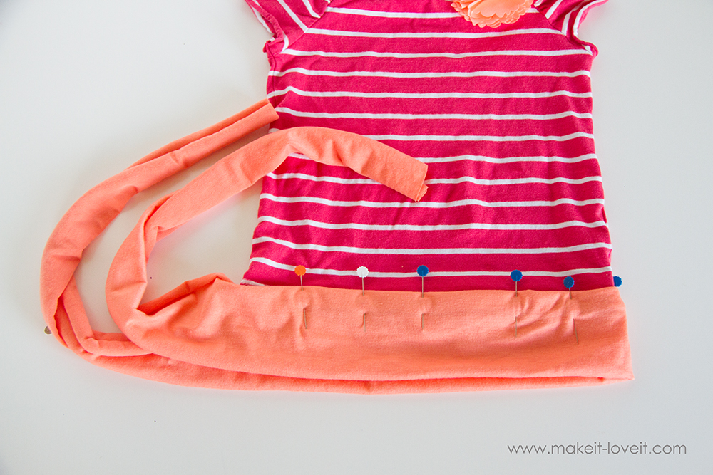 Add a Waist Sash to Shirts (great for making them longer (8)