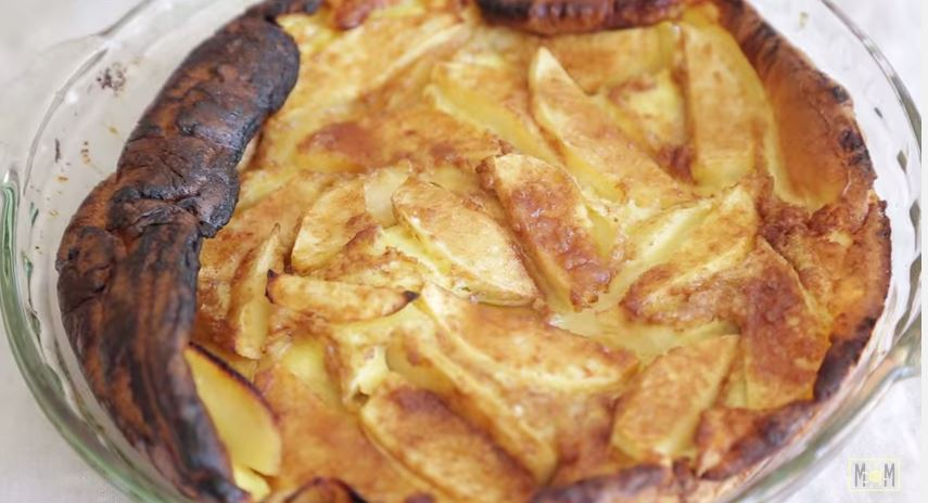 Learn how to make apple puffed pancake