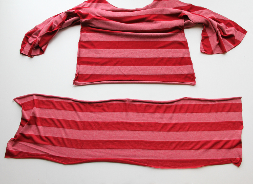 DIY Dolman Style Shirt with Banded Bottom 8