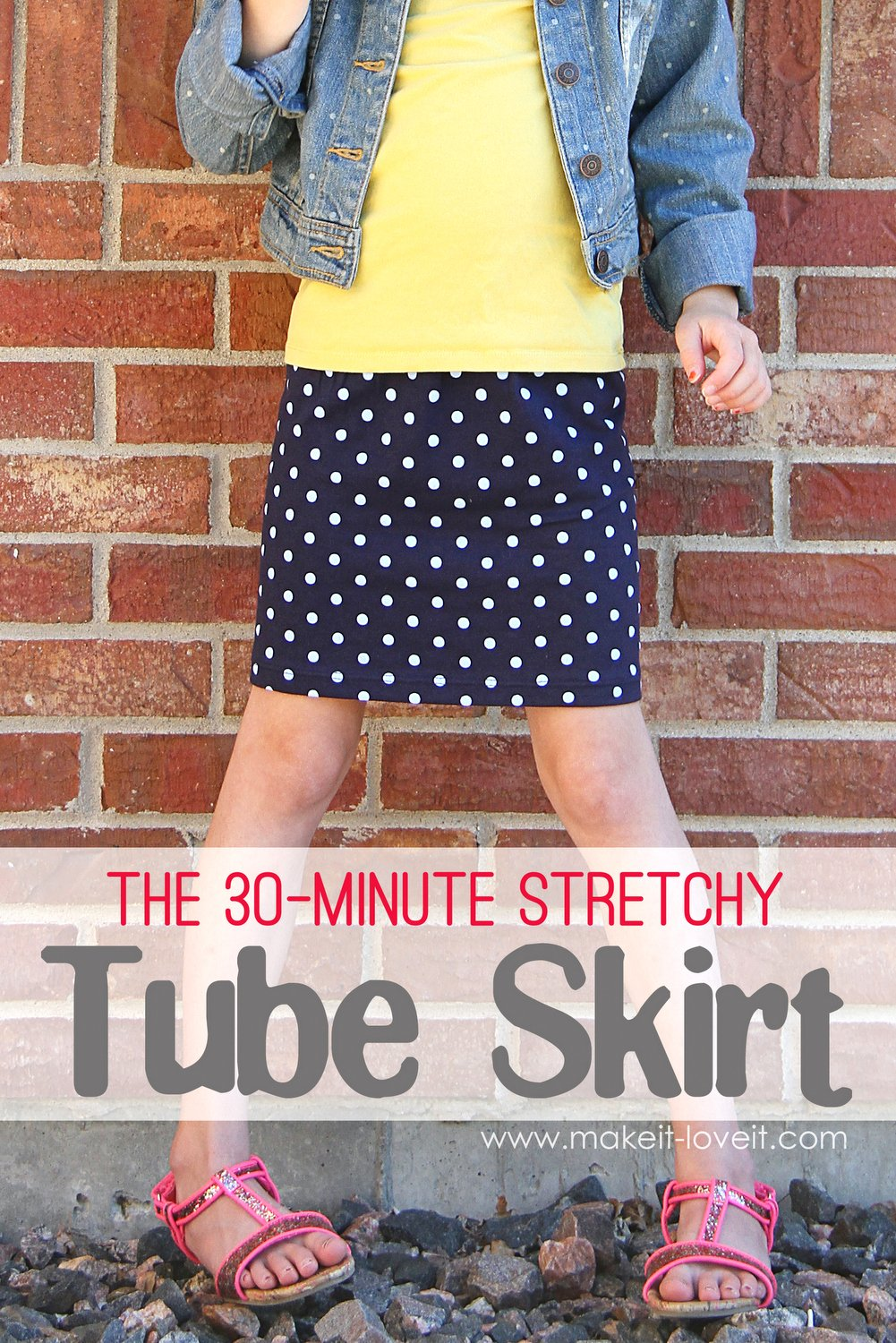 How to Sew the EASIEST Skirt Ever! Elastic Waistband Skirt Tutorial