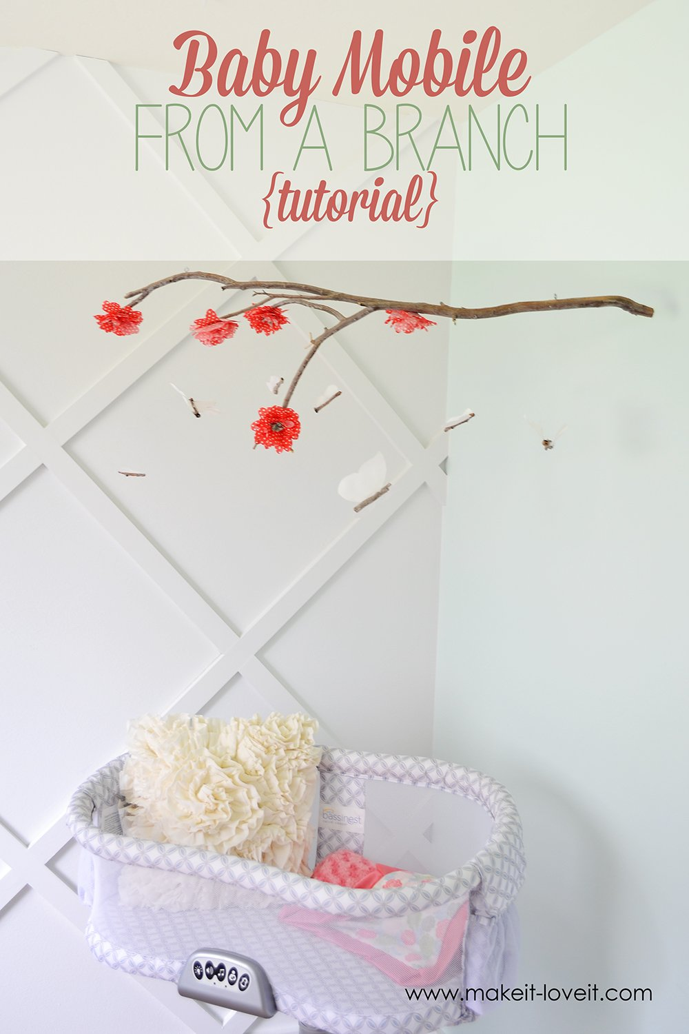 DIY Baby Mobile From a Branch | via Make It and Love It