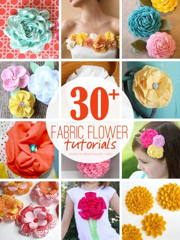 30+ diy fabric flower tutorials