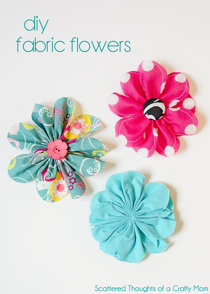 30+ DIY Fabric Flower Tutorials – Make It and Love It