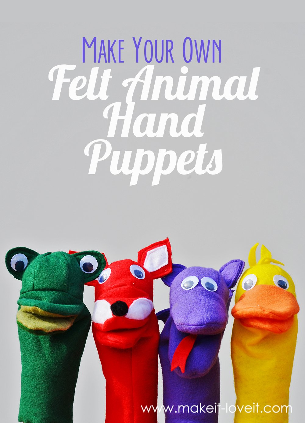 photograph about Free Printable Fleece Sock Pattern named Create Felt Animal Puppets Generate it and Get pleasure from it