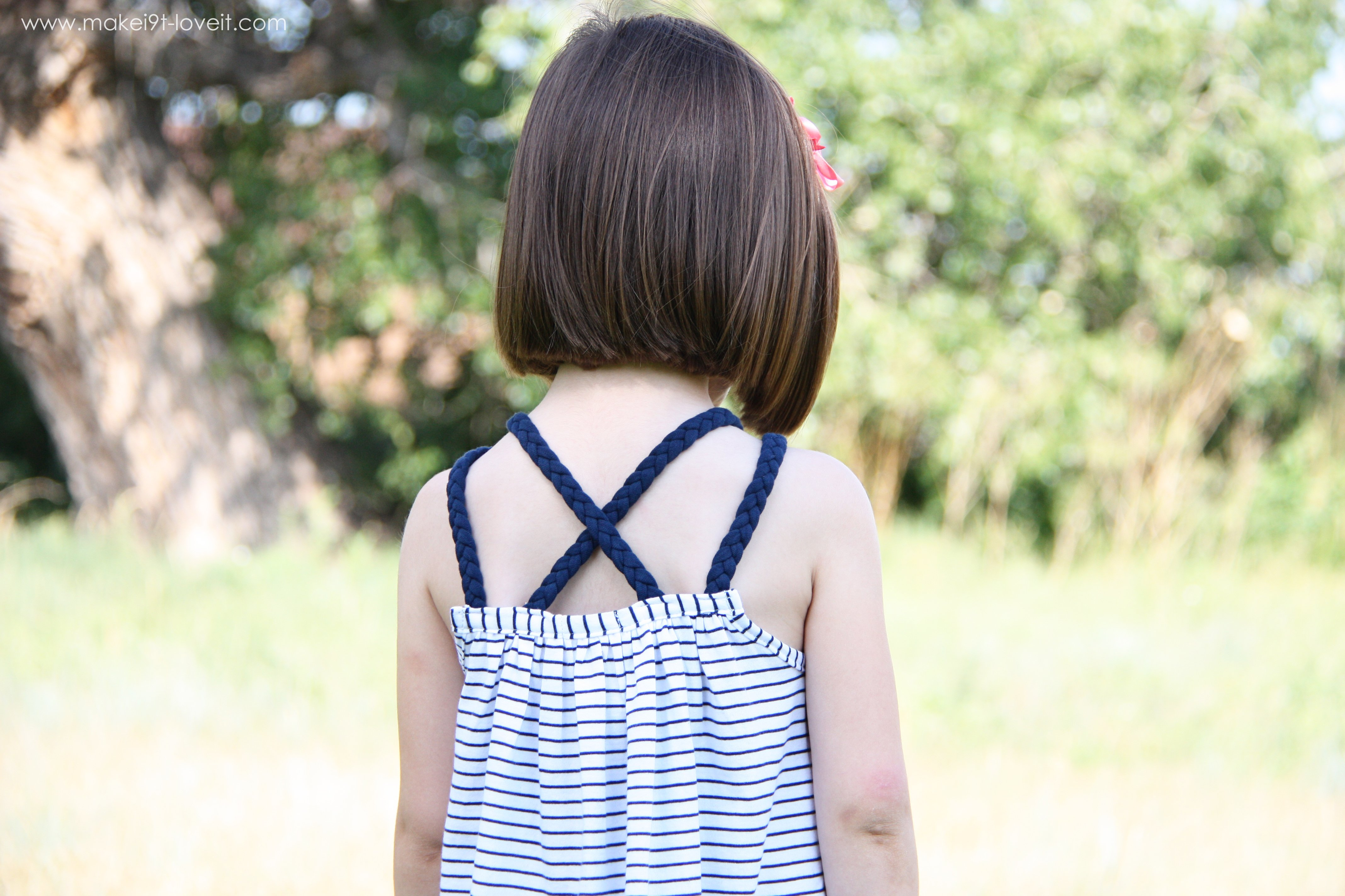 Dress (or top) with braided straps…from an old shirt