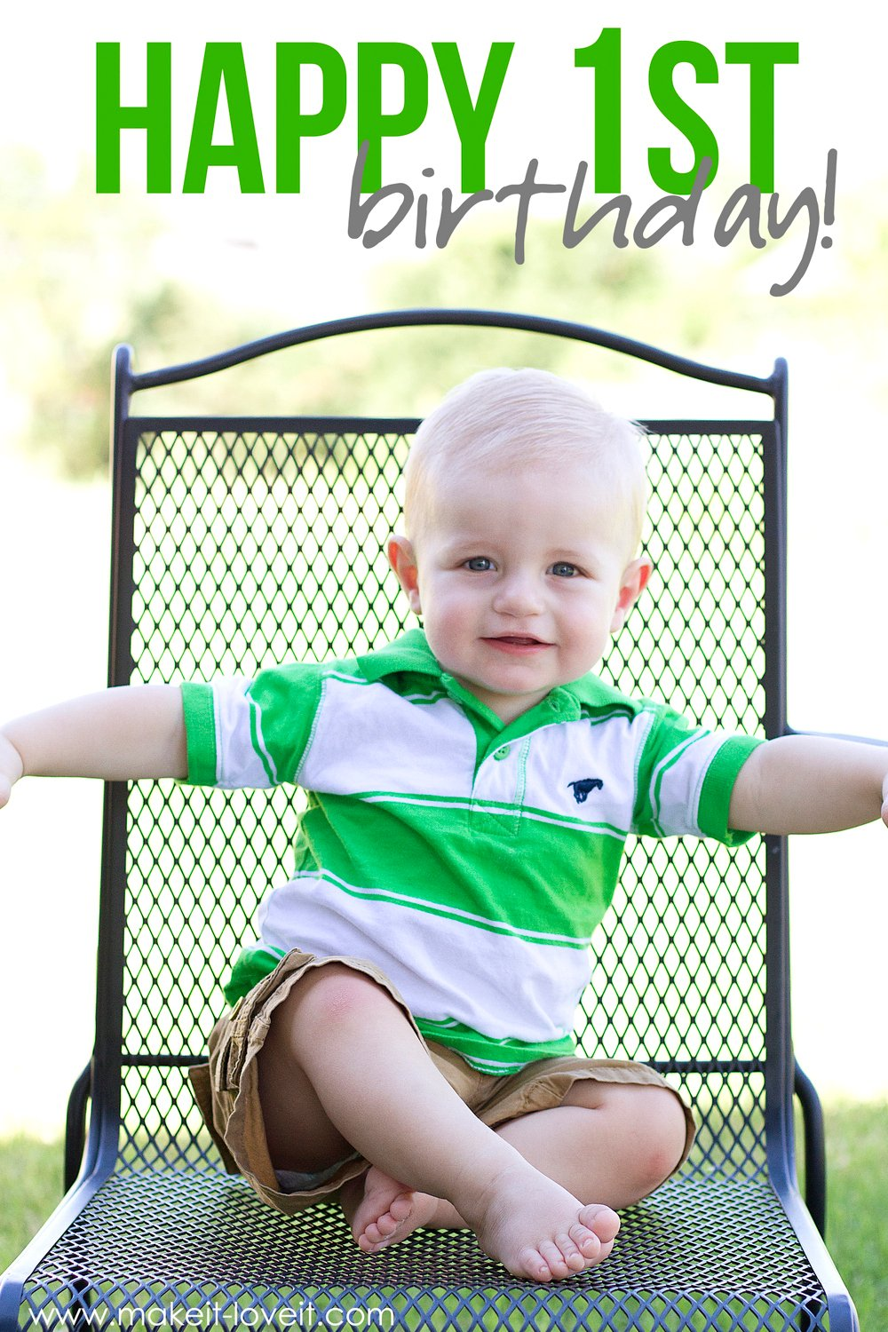 Baby oliver turns 1!!!