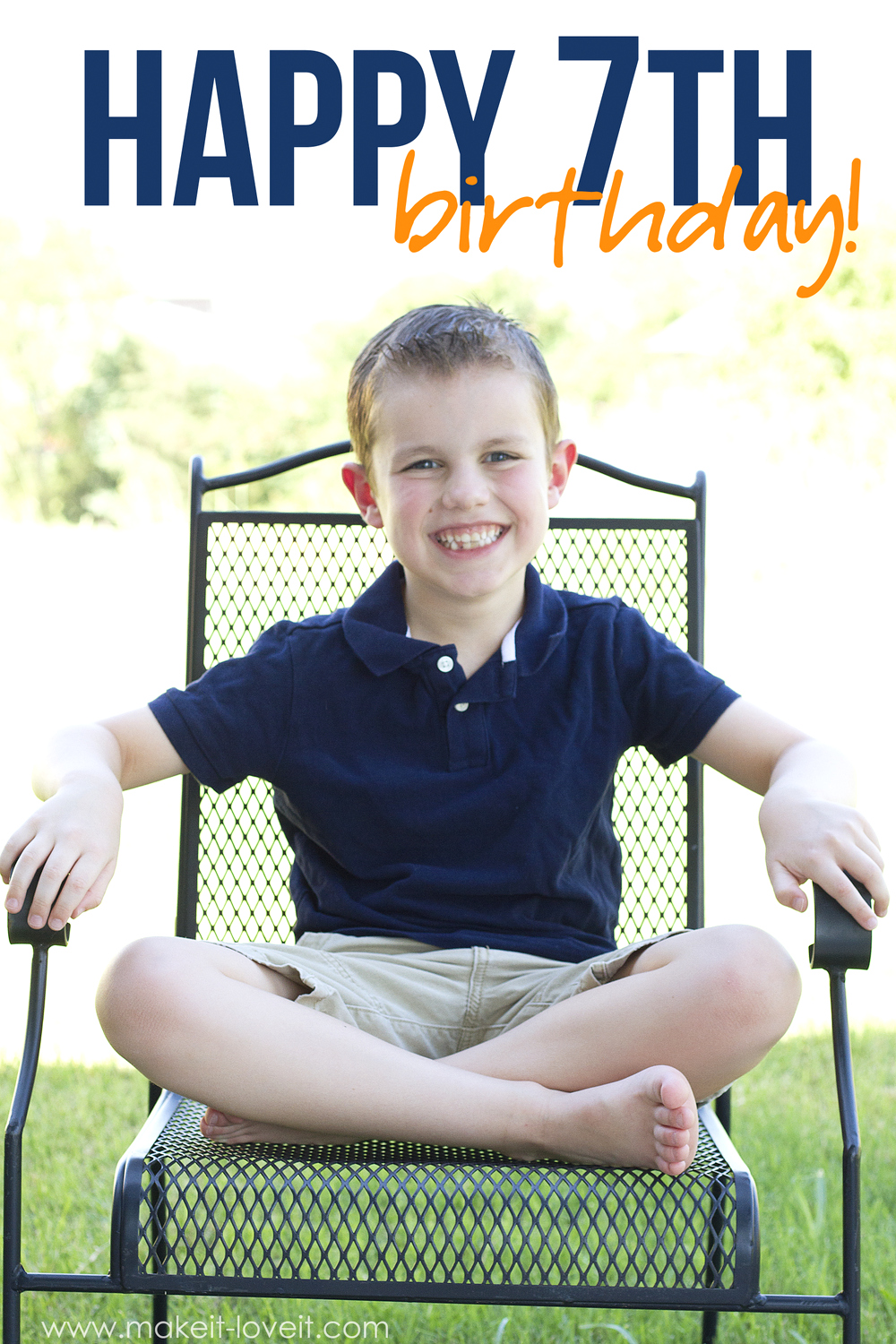 My little connor turns a big 7!!!