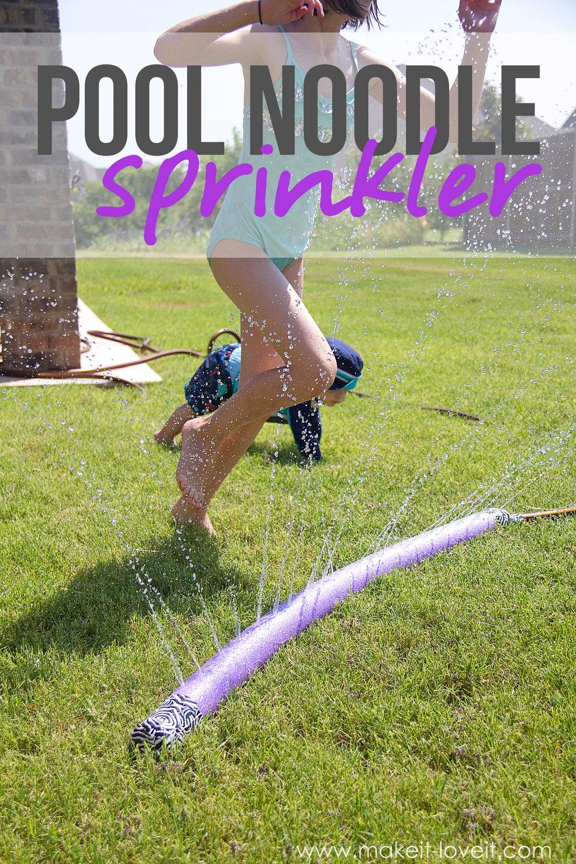 Make A Sprinkler From An Old Pool Noodle