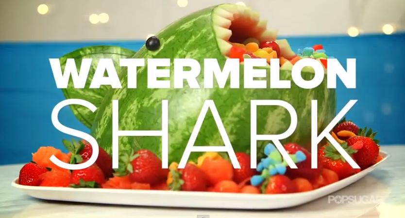 How to make a watermelon shark fruit salad