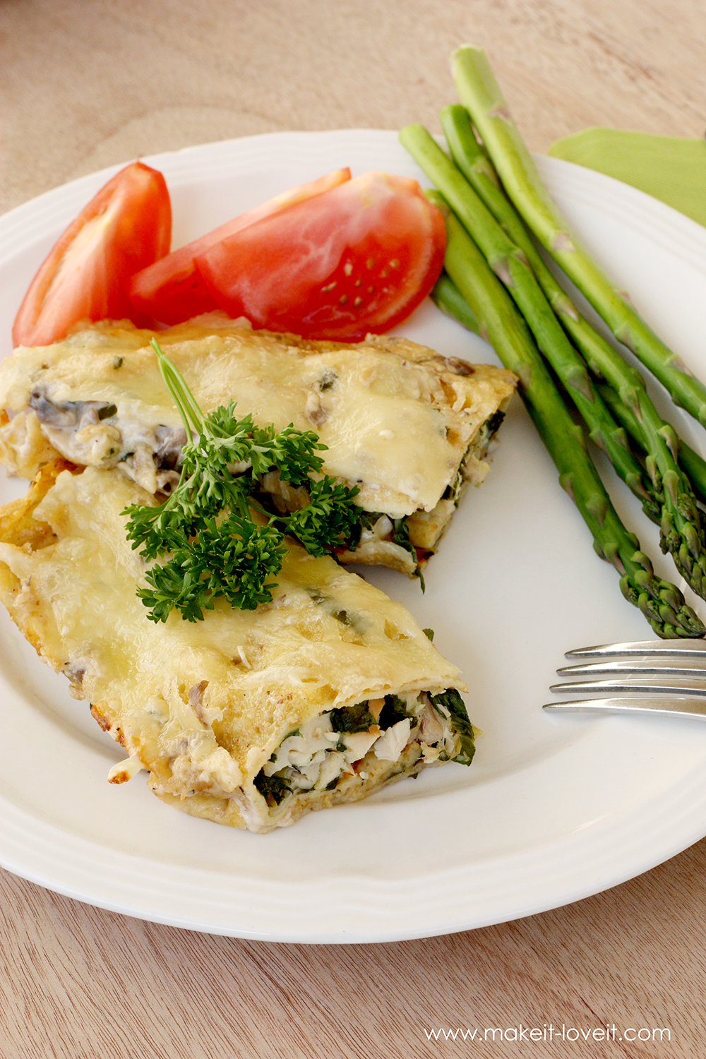 Swiss chicken crepes with spinach (16)